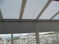 厂家热销供应半遮光蜂巢天棚帘、建筑中置遮阳天棚蜂巢帘,遮阳蜂巢帘