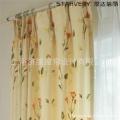 厂家直销日本SINCOL进口 卧室客厅 半遮光田园印花 定宽6202窗帘