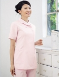 进口护士服套装 粉红色 夏装 抗菌加工