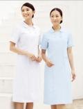 进口医护服装 短袖女护士工作护 粉红 白 蓝三色 抗菌处理