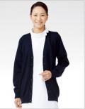 进口 医护工作护 针织衫开衫 女款深蓝色 不起球不褪色206-91