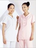 进口医护服饰 护士服套装 短袖上衣 抗菌加工处理