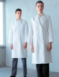 进口医护服饰/白大褂 长袖女款医生服 抗菌 防缩加工120-30
