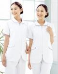 进口护士服套装 夏装 女装白色 抗菌吸汗防污加工
