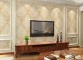 厂家欧式绣花无缝墙布  丝绸环保墙布防水壁布  客厅墙布SH03-1