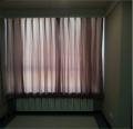 直销医用抗菌环保窗帘-医院半遮光窗帘--半遮光抓皱窗帘-永久阻燃咖啡色抓皱窗帘