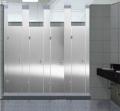 不锈钢蜂窝芯公共卫生间隔断 金属黄色洗手间隔断 铝蜂窝卫生间隔断