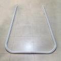 厂家直销铝合金输液轨道 嵌入式吊顶轨道O/椭圆型一字轨滑车