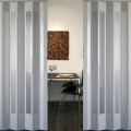 PVC折叠门室内推拉门 厨房开放式隔断吊轨简易门 伸缩隐形移门